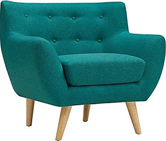 ModWay Modway Remark Mid-Century Modern Accent Arm Lounge Chair with Upholstered Fabric in Teal