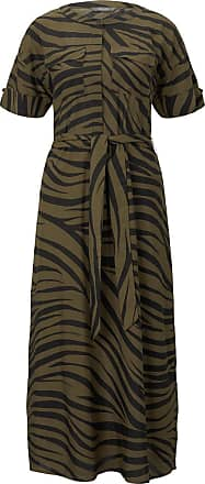 Tom Tailor Maxikleid im Zebra-Muster, Damen, olive zebra design, Größe: 36