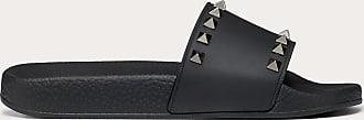 Valentino Garavani Valentino Garavani Rockstud Rubber Slides Women Black Plastic Material 100% 35