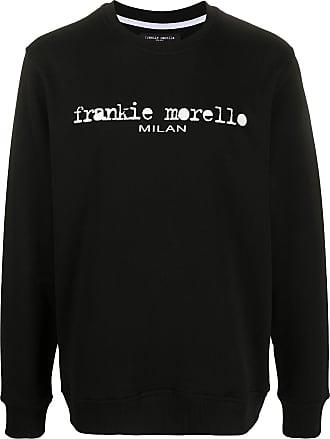 Frankie Morello Moletom decote careca com estampa de logo - Preto
