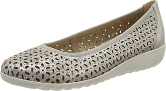 Caprice Womens Faby Ballet Flats, Silver (Silver Metal. 920), 4 UK