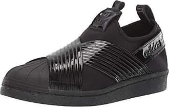 adidas Originals Womens Superstar Slip On Running Shoe, Black/Collegiate Purple, 10 M US