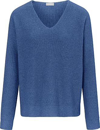 include V-neck jumper long sleeves include blue