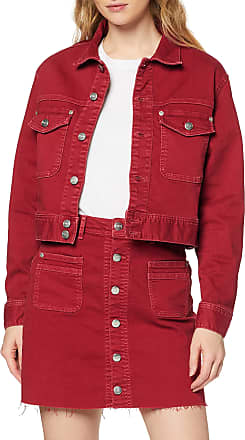 Pepe Jeans London Womens Tiffany Denim Jacket, Red (Pillarbox Red 266), Medium