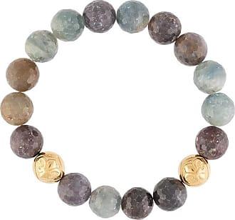 Nialaya sculpted sapphire bead bracelet - Multicolour
