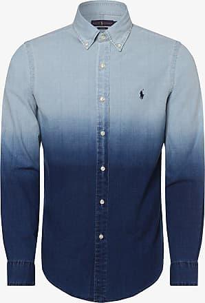 Polo Ralph Lauren Herren Hemd mit Leinen-Anteil - Slim Fit blau