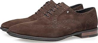 Floris Van Bommel Brauner Kalbswildleder-Brogue, Business Schuhe, Handgefertigt