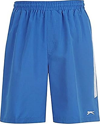 Slazenger Mens Woven Shorts Elasticated Waist Exercise Fitness Workout Sports Blue S