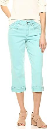 NYDJ Womens Marilyn Crop Cuff Jean, Blue Daisy, 0
