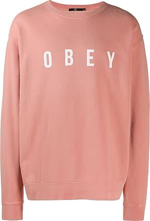 Obey contrast logo sweatshirt - Pink