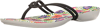 Crocs Shoes - ISABELLA GRAPHIC FLIP black floral, Size:8 UK