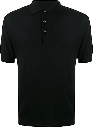 N.Peal fine gauge polo shirt - Black