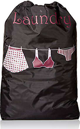 Pure Style Girlfriends PURE STYLE Girlfriends Womens Travel Drawstring Bag Set Lingerie and Laundry, Purple/Black, One Size