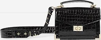 The Kooples Black Emily mini crocodile handbag - WOMEN