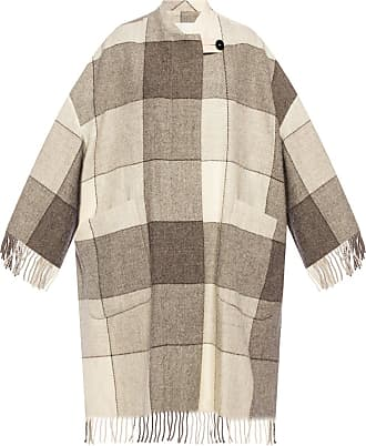 Jil Sander Patterned Coat With Fringing Womens Beige