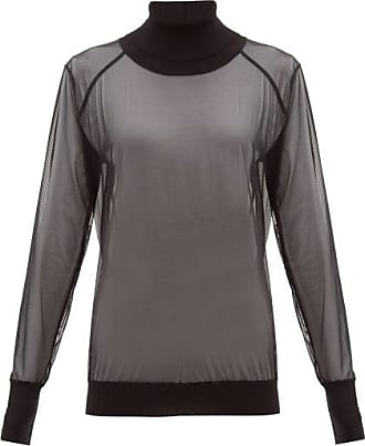 Wolford Tony Roll-neck Tulle Sweater - Womens - Black