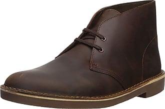 Clarks Mens Bushacre, 2 Chukka Boot Dark Brown 8.5 W US