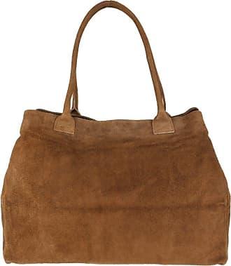 Girly HandBags Girly HandBags Expandable Italian Suede Leather Shoulder Bag - Tan