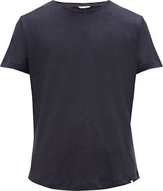 Orlebar Brown Ob-t Linen T-shirt - Mens - Navy