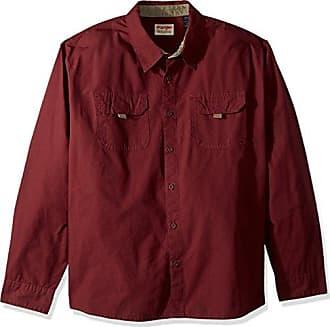 Wrangler Authentics Mens Big and Tall Big & Tall Long Sleeve Canvas Shirt, Tawny Port, 3XL