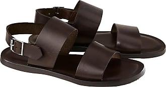 Oconi Kalbleder-Sandale, Braun, Herren