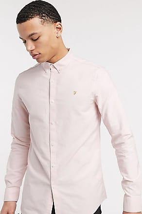 Farah Brewer - Schmal geschnittenes Oxford-Hemd in Rosa