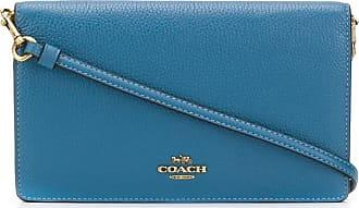 Coach Bolsa transversal com logo - Azul