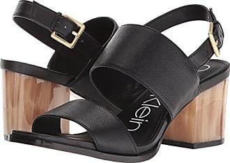 4af5dc184539 Calvin Klein Womens Rosemary Heeled Sandal Black 8.5 Medium US