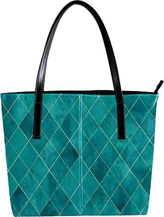 Nananma Womens Bag Shoulder Tote handbag with Geometric Plaid Gold Glitter Line Print Zipper Purse PU Leather Top-handle Zip Bags