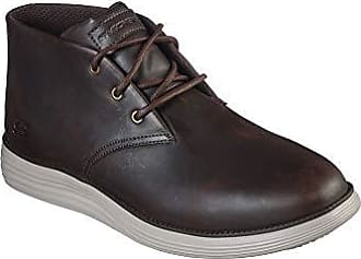Skechers Mens Delson Clenton Brown Leather Chukka Boots