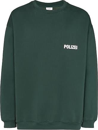 VETEMENTS Moletom mangas longas com estampa Polizei - Verde