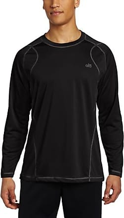 Alo Yoga Mens Tranquility Long Sleeve T-Shirt, Black, Small