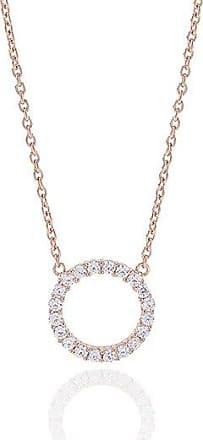 Sif Jakobs Jewellery Halskette Biella Grande - 18K rosé vergoldet mit weißen Zirkonia