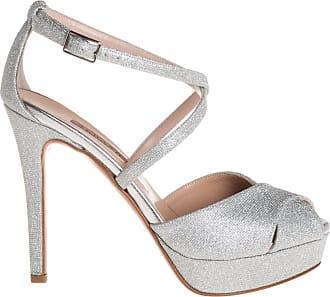 Albano sandalo tacco alto lurex, 37 / argento