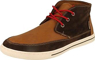 Lambretta Mens Lambretta Casual Ankle Boots Chief Brown/Tan Size 7