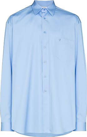 VETEMENTS logo print shirt - Azul
