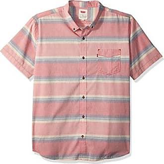Levi's Mens Palette Short Sleeve Woven Shirt, cranberry, XX Large