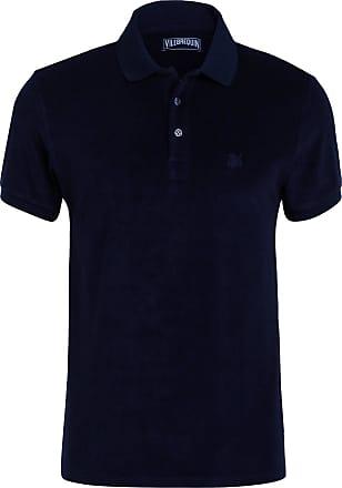 Vilebrequin Frottee-Poloshirt - DUNKELBLAU