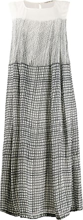 Transit Par-Such gradient check pattern dress - Branco