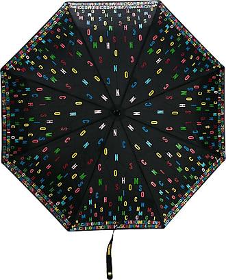Moschino multicoloured logo umbrella - Black