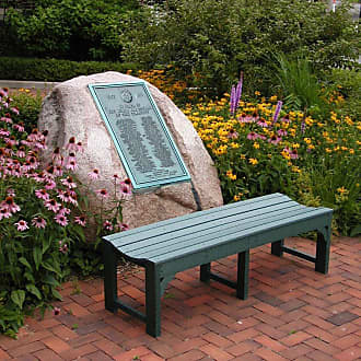 POLYWOOD Outdoor POLYWOOD Traditional Recycled Plastic Backless Garden Bench Hunter Green, Size: 4 ft - BAB148GR