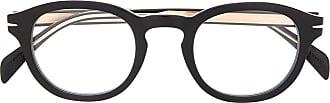 David Beckham Armação de óculos retangular preta - Preto