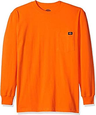 2c1f05eb5fd8 Dickies Mens Tall Size Long Sleeve Heavyweight Neon Crew Neck Tee, Bright  Orange, 2T