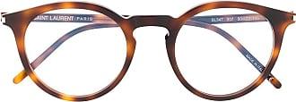 Saint Laurent Eyewear Armação de óculos redonda SL347 - Marrom