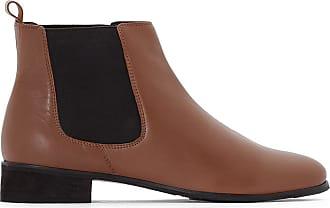 2cc29fdeca729a La Redoute Boots chelsea en cuir, pied large 38-45 - LA REDOUTE COLLECTIONS