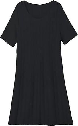 Enna Strickkleid aus Bio-Baumwolle und Bio-Merinowolle, schwarz