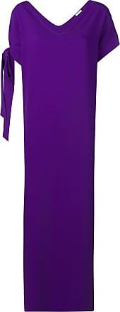 P.A.R.O.S.H. knot detail long dress - Purple