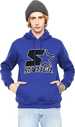 Starter Moletom Flanelado Fechado Starter Logo Azul