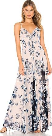 Bcbgmaxazria Long Ruffle Gown in Blush