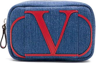 Valentino Garavani Necessaire jeans com logo - Azul